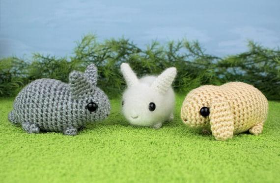 Amigurumi Anleitung Baby : PDF Baby Bunnies three amigurumi bunny rabbit CROCHET