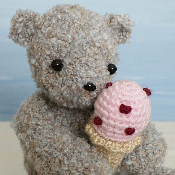 Ice Cream Bear amigurumi teddy bear crochet pattern by ...