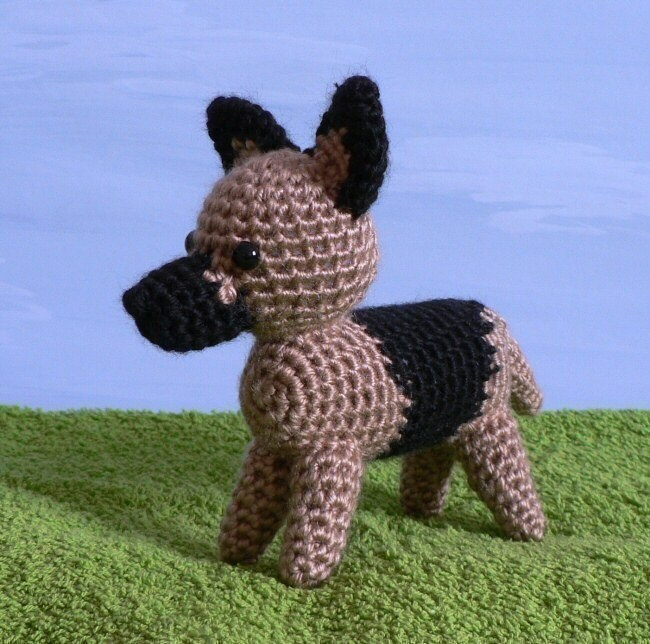Tinkerbell Amigurumi Free Pattern : PDF AmiDogs German Shepherd amigurumi dog CROCHET PATTERN
