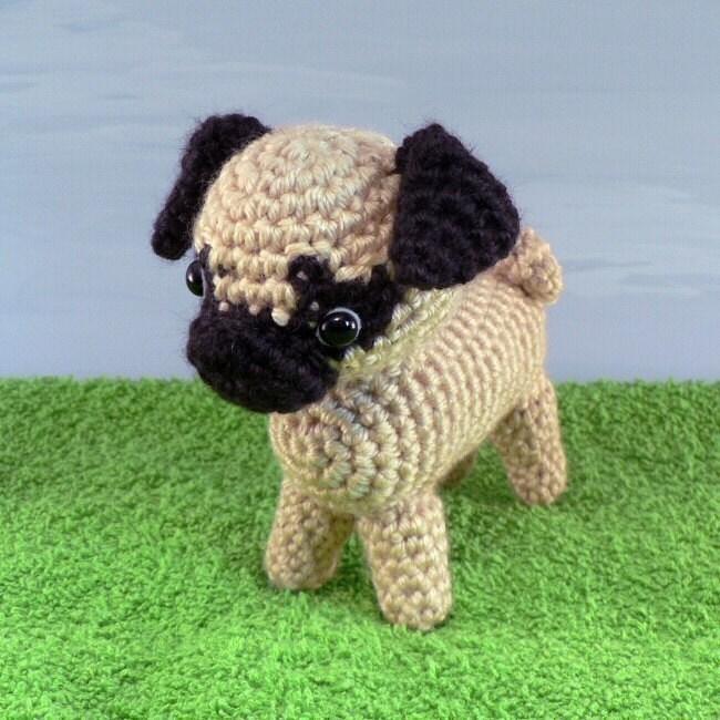 Tinkerbell Amigurumi Free Pattern : PDF AmiDogs Pug amigurumi dog CROCHET PATTERN