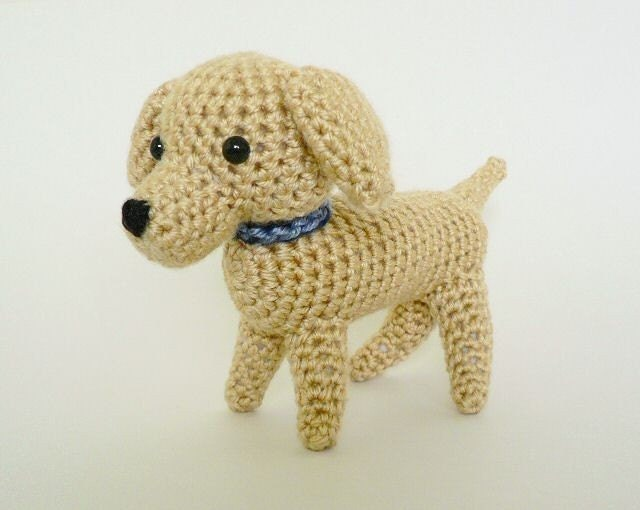 Free Crochet Patterns For Dogs : PDF AmiDogs Labrador amigurumi dog CROCHET PATTERN