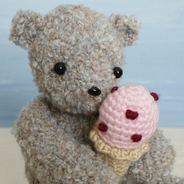 Amigurumi Rainbow Unicorn Pattern : Ice Cream Bear amigurumi teddy bear crochet pattern