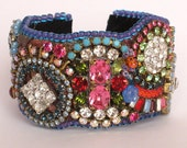 Bold Rhinestone Cuff Bracelet Tutorial PDF - Endless Creative Options