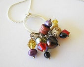 Autumn Morning - Casually Elegant Multi-colored Mixed Materials Necklace