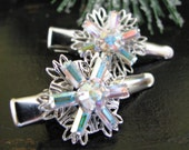 Winter Sparkle - Shining Swarovski Snowflake Hair Clips