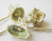 Seaside Bride v.3 - Vintage Seashell Bauble Hair Pin Set