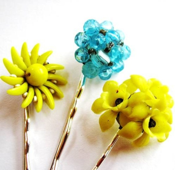 Daffodil Hair Pin - RESERVED for Syman