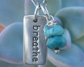 Turquoise Breathe Necklace Sterling Silver