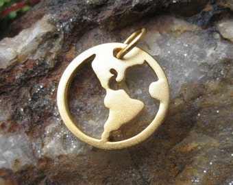 Gold Earth Charm - World Peace