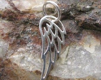 Tiny Wing Charm - Silver Wing Necklace
