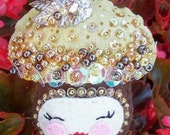 Little Acorn Hand Sewn pin, Autumn Acorn, Plush Acorn Pin or ornament,