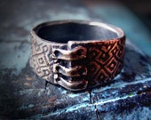 Patched Ring: Square Pattern, size 6 1/4