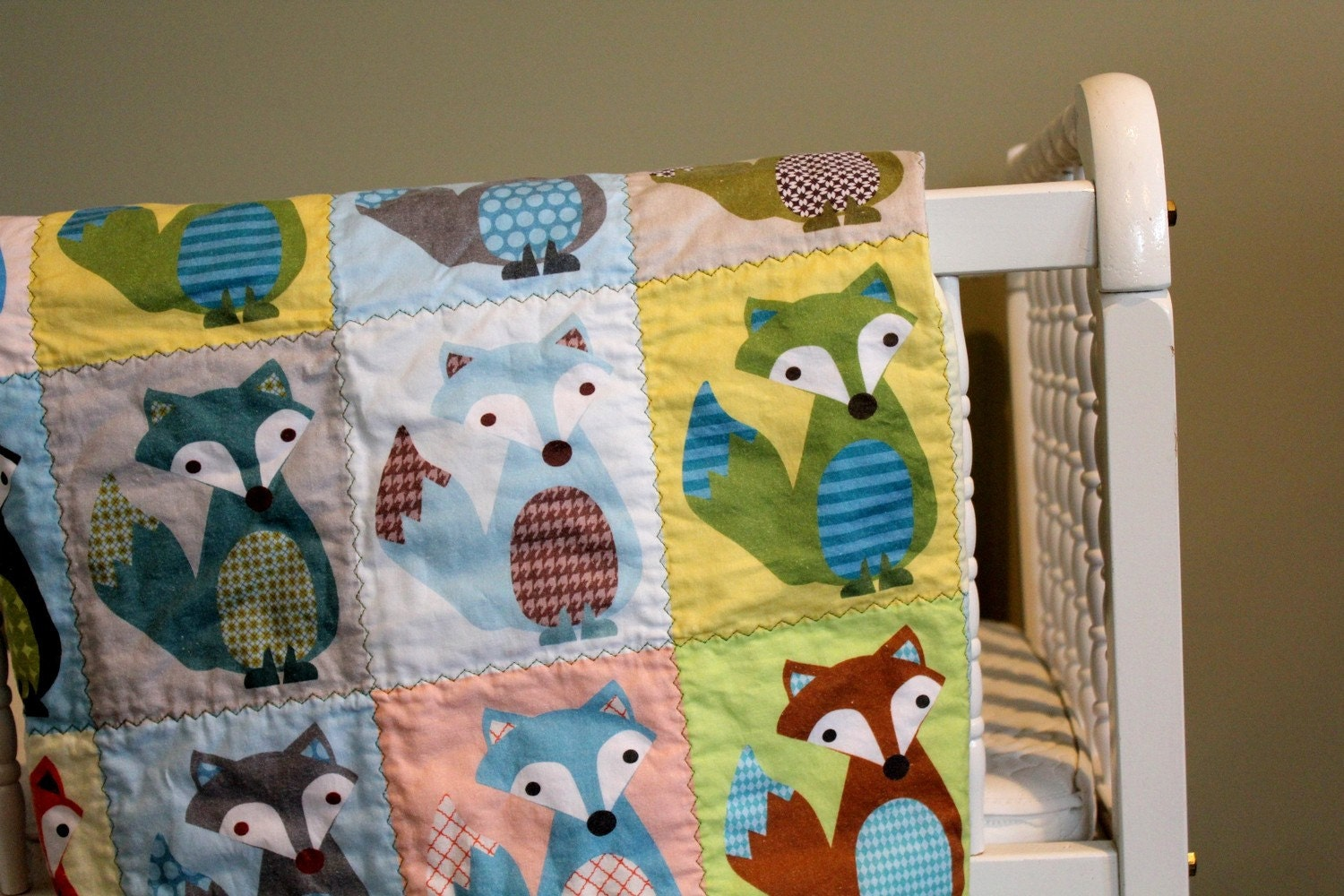 Fox tails quilt by petunias baby blanket newborn by petunias - Vintage antique baby room ideas timeless charm appeal ...