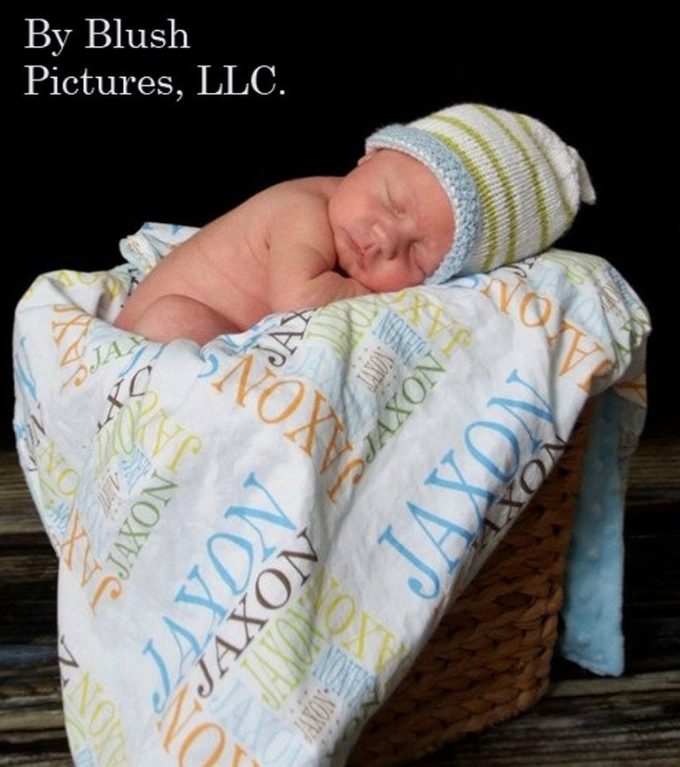 Personalized Baby Blanket Name Game Minky By Petunias Soft