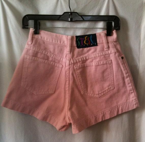 VINTAGE 90's Pink Denim Shorts