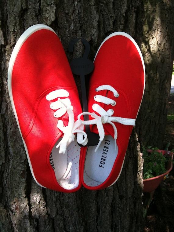 Red Orange Canvas Shoes NWT Sz 7.5/8