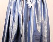 SALE Blue/Antique Gold Drawstring Skirt Was 55