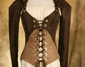 Brown Steampunk Jacket and Corset Set CUSTOM