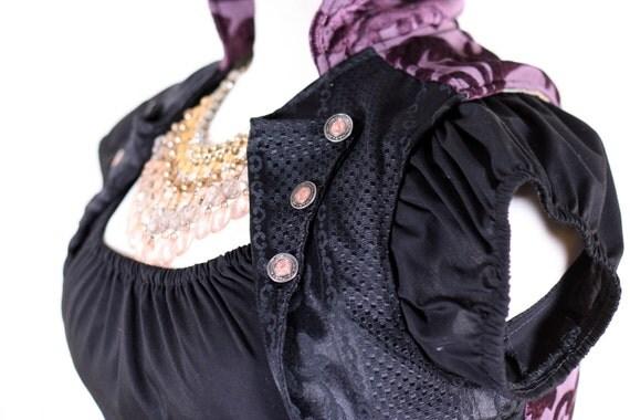 Purple & Black Cropped Vest Size Small