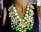 Mint and Pink...a necklace for cool summer breezes...from wendy baker