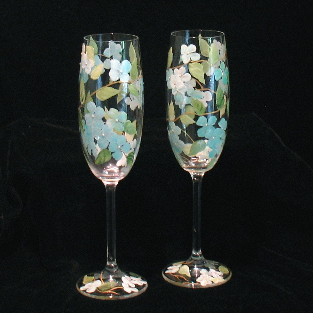 diamond crystal champagne fluted glasses