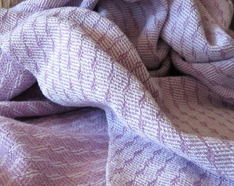 Lilac Baby Blanket - Handwoven Cotton