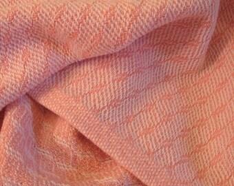 Pink Baby Blanket - Handwoven
