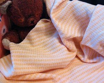 Handwoven Baby Blanket - Golden Yellow