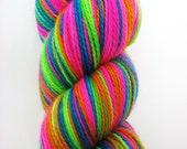 BUZZIN LIKE NEON - Hand Painted Superwash Sock Yarn