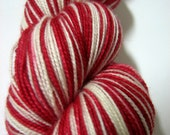 CANDY CANE - Hand Painted Superwash Sock Yarn