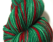 HOLLY BERRY - Hand Painted Superwash Sock Yarn