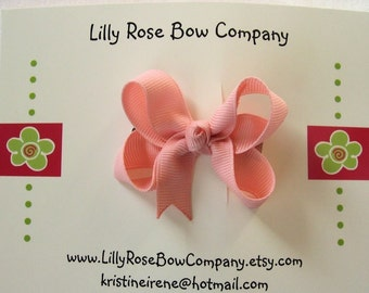 Small Twisted Boutique Hair Bow For Infant / Toddler - Choose From Over 80 Colors of  Ribbon -