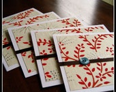 Holiday Branch Card Set of Five ON SALE