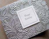 Silver Birthday Card ON SALE