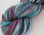 Bruised - handspun yarn superbulky 140 yds