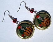 Gnome Bottle Cap Earrings Oktoberfest