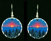 Earrings Frosted Sunrise