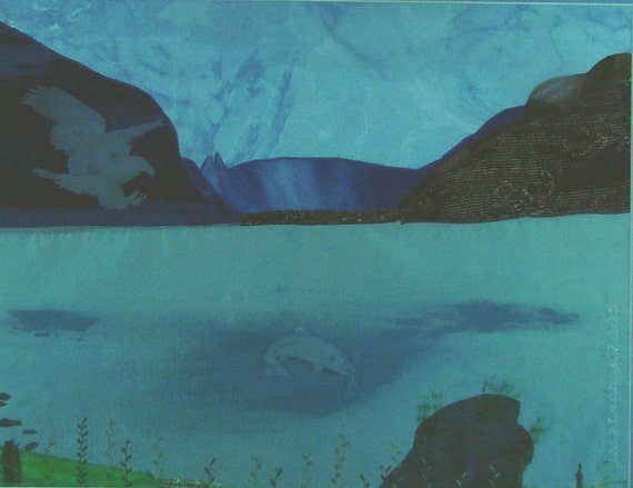 Matted Photoprint  Chilkoot Salmon  by Judy