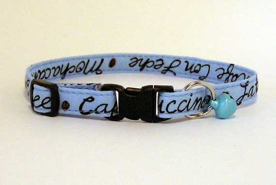 Paws 'n Tails Cat Collar ... Coffee Lover's Kitty