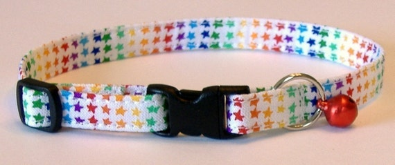 Paws 'n Tails Cat Collar ... Rainbow Stars