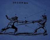 guy or girl shirt...many colors...fencing fellows
