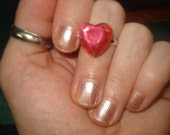Simple Pink Heart Ring