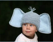 Custom Boutique Amigurumi Elephant Crochet Hat ANY SIZE