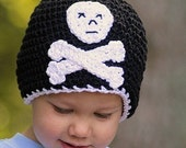 Jolly Roger Pirate Skull Cap - ANY SIZE