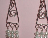 Pearly Mini Spiral Chandelier-FREE SHIPPING