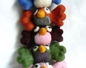 lulus chubby chirpers - Needle felt bird decoration