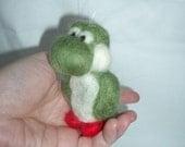 Needle felted Yoshi ornament