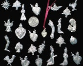 Mexican folk art - Lot of 25 EXTRA LARGE Mexican religious altar milagros- embellisments for altars, boxes, nichos and shrines