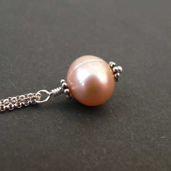 Pearl Necklace - Freshwater Pearl Sterling Silver Necklace