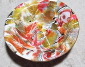 Abstract Watercolor Ring or Paperclip Bowl